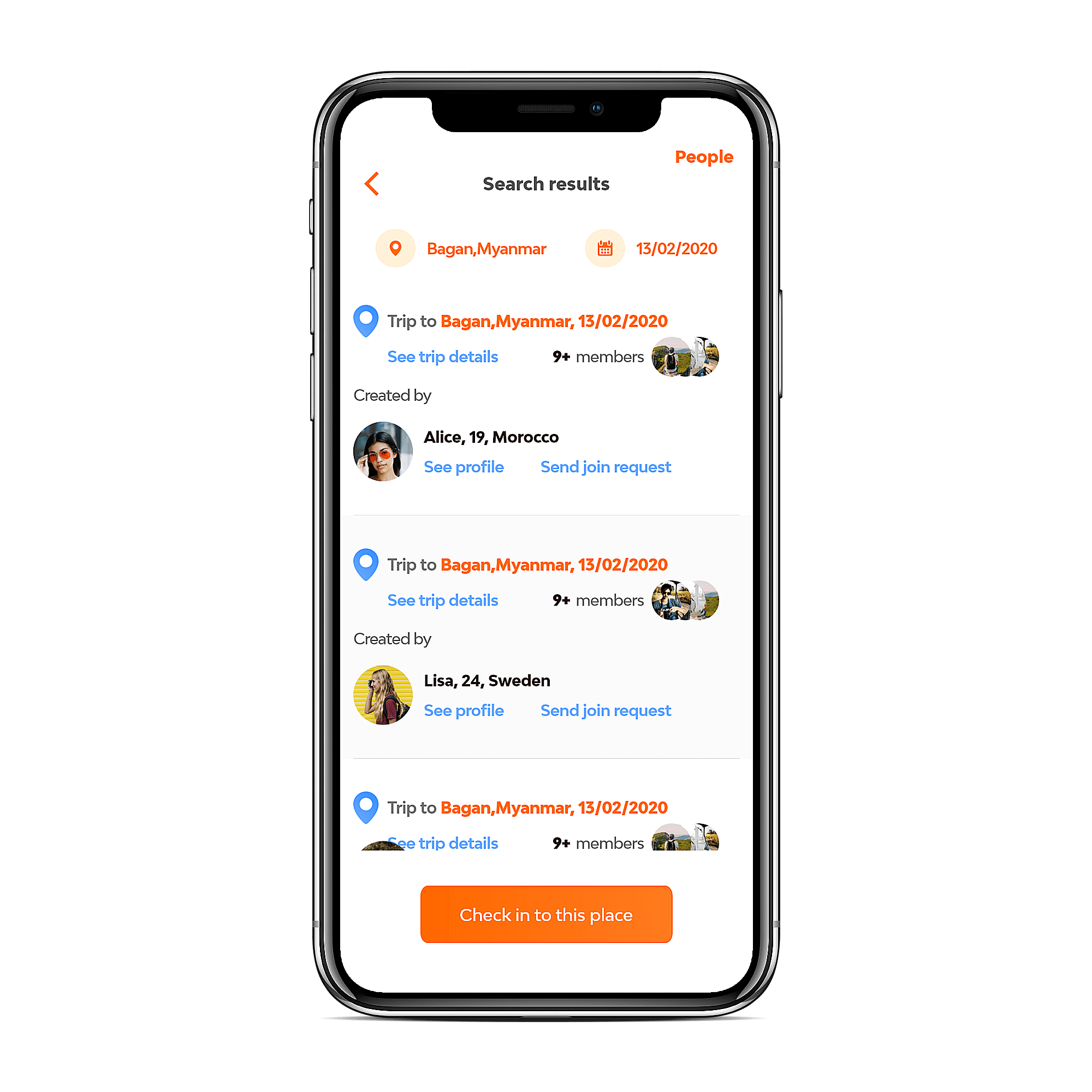 Find travel buddies with the Wander app